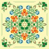 Modelo inconsútil con el ornamento floral Foto de archivo libre de regalías