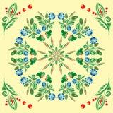 Modelo inconsútil con el ornamento floral Fotos de archivo