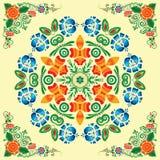 Modelo inconsútil con el ornamento floral Fotos de archivo libres de regalías