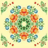 Modelo inconsútil con el ornamento floral Foto de archivo