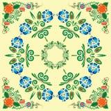 Modelo inconsútil con el ornamento floral Imágenes de archivo libres de regalías