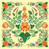 Modelo inconsútil con el ornamento floral Imagenes de archivo