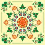 Modelo inconsútil con el ornamento floral Fotografía de archivo libre de regalías