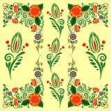 Modelo inconsútil con el ornamento floral Imagen de archivo