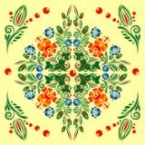 Modelo inconsútil con el ornamento floral Imagen de archivo libre de regalías