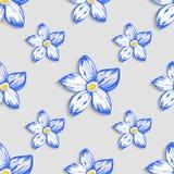 Modelo inconsútil con el ornamento floral Vector Fotos de archivo