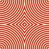 Modelo inconsútil con el ornamento geométrico simétrico Fondo abstracto blanco rojo del caleidoscopio Foto de archivo libre de regalías
