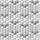 Modelo inconsútil con el ornamento tejado blanco de los cubos geométricos Fotos de archivo
