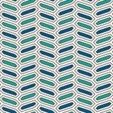 Modelo inconsútil con el ornamento vertical de la trenza Fondo de la teja de los octágonos Adorno de la raspa de arenque Papel pi Fotos de archivo