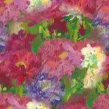 Modelo inconsútil con el ramo de flores de los asteres A mano en pintura al óleo Fotos de archivo