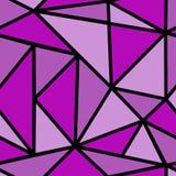 Modelo inconsútil con el triángulo púrpura Foto de archivo libre de regalías