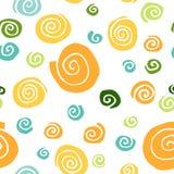 Modelo inconsútil con espiral amarillo, verde, azul en un contexto blanco libre illustration