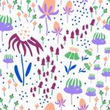 Modelo inconsútil con floral Ilustración del Vector