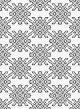 modelo inconsútil con formas y símbolos geométricos Foto de archivo libre de regalías