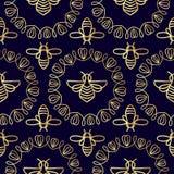 Modelo inconsútil con la abeja Fotografía de archivo libre de regalías
