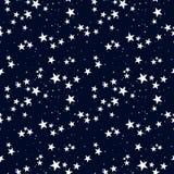 Modelo inconsútil con la estrella en cielo oscuro Foto de archivo libre de regalías