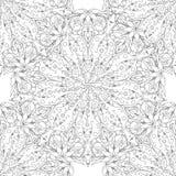 Modelo inconsútil con la mandala En un fondo blanco un modelo simple Imagen de archivo libre de regalías