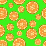 Modelo inconsútil con la naranja Imagen de archivo libre de regalías