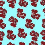 Modelo inconsútil con la planta Flor Para los papeles pintados, diseño de la camiseta Foto de archivo libre de regalías