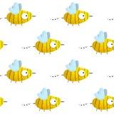 Modelo inconsútil con las abejas a mano lindas ilustración del vector