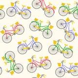 Modelo inconsútil con las bicicletas Imagenes de archivo