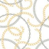 Modelo inconsútil con las cadenas en un fondo blanco ilustración del vector