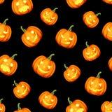 Modelo inconsútil con las calabazas de Halloween de las Jack-O-linternas Ilustración del vector ilustración del vector