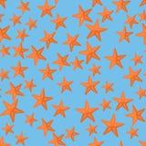 Modelo inconsútil con las estrellas de mar Imágenes de archivo libres de regalías