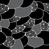 Modelo inconsútil con las figuras abstractas Serie monocromática Foto de archivo libre de regalías