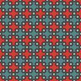 Modelo inconsútil con las figuras geométricas repetidas Ornamento geométrico oriental Papel pintado del mosaico Foto de archivo libre de regalías