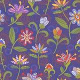 Modelo inconsútil con las flores Imagen de archivo libre de regalías