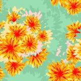 Modelo inconsútil con las flores Imagenes de archivo
