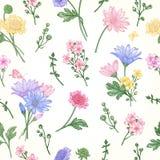 Modelo inconsútil con las flores Stock de ilustración