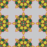 Modelo inconsútil con las flores abstractas coloreadas Vector libre illustration