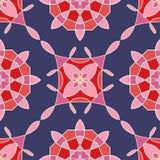 Modelo inconsútil con las flores abstractas coloreadas Vector Foto de archivo libre de regalías