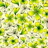 Modelo inconsútil con las flores amarillas del celandine Imagenes de archivo