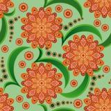 Modelo inconsútil con las flores anaranjadas Fotos de archivo libres de regalías