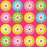 Modelo inconsútil con las flores coloridas Fotografía de archivo libre de regalías