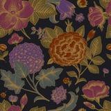 Modelo inconsútil con las flores del vintage. Imagen de archivo libre de regalías