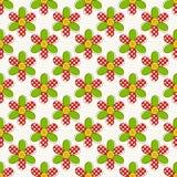 Modelo inconsútil con las flores Ilustración del vector Imagenes de archivo