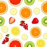Modelo inconsútil con las frutas y las bayas Imagen de archivo