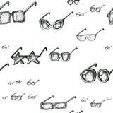Modelo inconsútil con las gafas de sol ilustración del vector