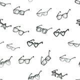 Modelo inconsútil con las gafas de sol Foto de archivo libre de regalías