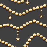 Modelo inconsútil con las gotas y las estrellas de oro Fotografía de archivo