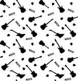 Modelo inconsútil con las guitarras en un fondo blanco Imagen de archivo
