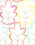 Modelo inconsútil con las hojas coloridas Fotos de archivo libres de regalías