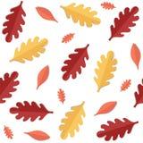 Modelo inconsútil con las hojas de otoño Fotografía de archivo libre de regalías