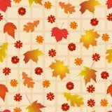 Modelo inconsútil con las hojas de otoño brillantes Fotos de archivo libres de regalías