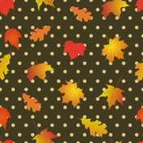 Modelo inconsútil con las hojas de otoño brillantes Imagen de archivo