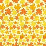 Modelo inconsútil con las hojas de otoño coloridas stock de ilustración